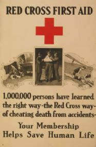 Vintage WW1 Red Cross Poster Appealing for Membership